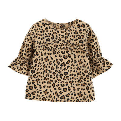 Carter's Elbow Bell Sleeve Leopard Top - Toddler Girls