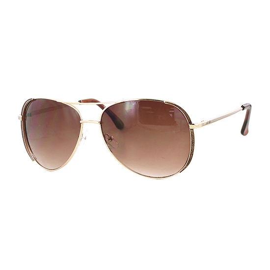 Glance Womens Full Frame Aviator UV Protection Sunglasses