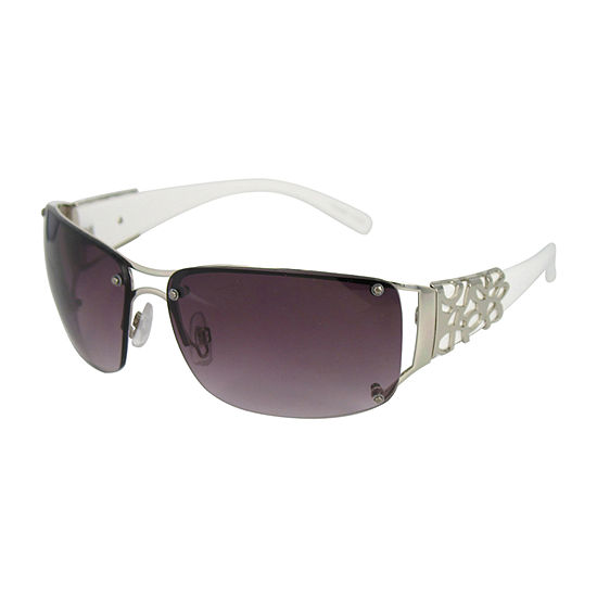 Glance Womens Rimless Rectangular UV Protection Sunglasses