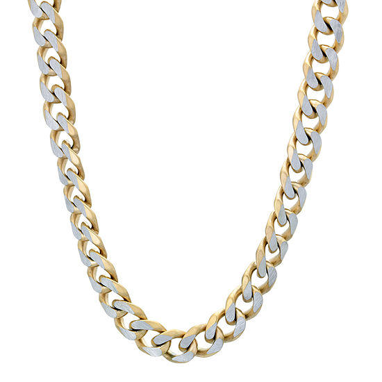 Stainless Steel 24 Inch Solid Curb Chain Necklace