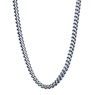 Stainless Steel 22 Inch Solid Wheat Chain Necklace