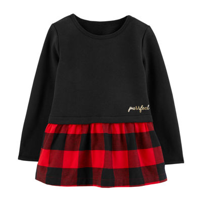 Carter's Long Sleeve Peplum Top - Toddler Girls
