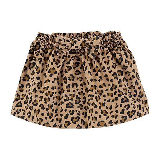 Carter's Girls Cheetah Corduroy Skirt - Toddler Girls Short A-Line Skirt - Toddler