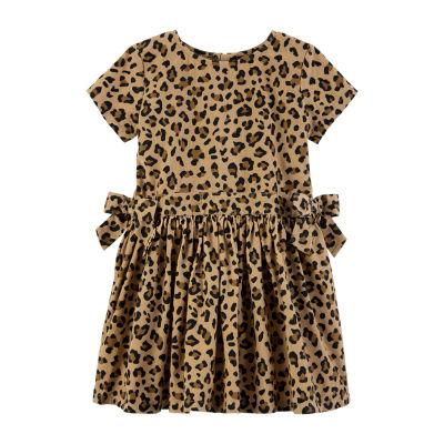 Carter's Corduroy Dress - Toddler Girls Short Sleeve Fitted Sleeve A-Line Dress - Toddler Girls