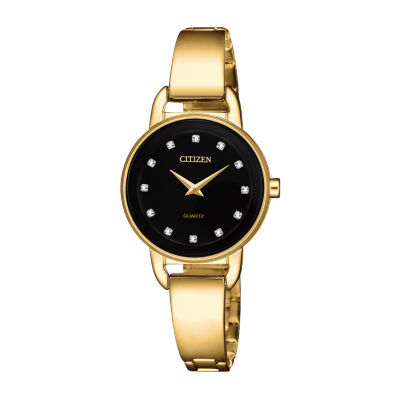 Citizen Womens Gold Tone Stainless Steel Bangle Watch 2 Piece Set -Ez6372-69e