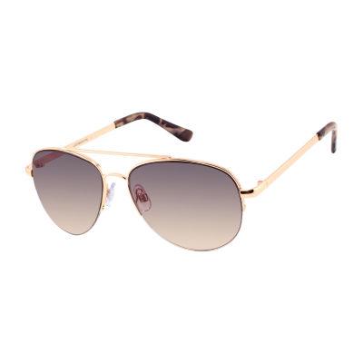 Liz Claiborne Womens Full Frame Aviator UV Protection Sunglasses