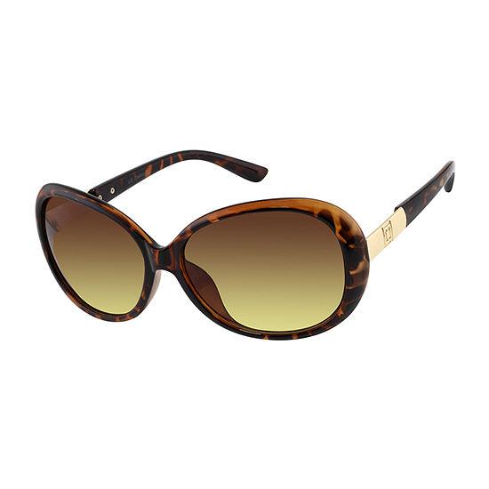 Liz Claiborne Womens Full Frame Round UV Protection Sunglasses