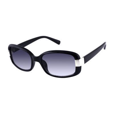 Liz Claiborne Womens Full Frame Rectangular UV Protection Sunglasses