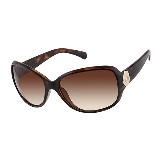 Liz Claiborne Womens Full Frame Rectangular UV Protection Sunglasses