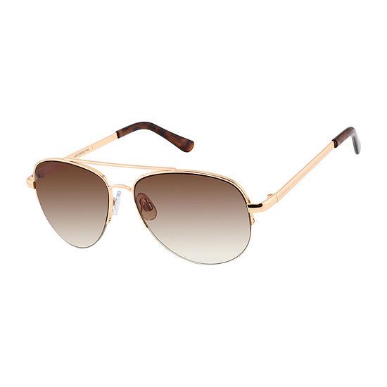 Liz Claiborne Womens Half Frame Aviator UV Protection Sunglasses