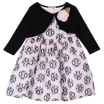 Marmellata Short Sleeve A-Line Jacket Dress - Baby Girls