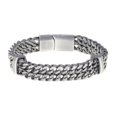 Stainless Steel 8 1/2 Inch Solid Wheat Chain Bracelet