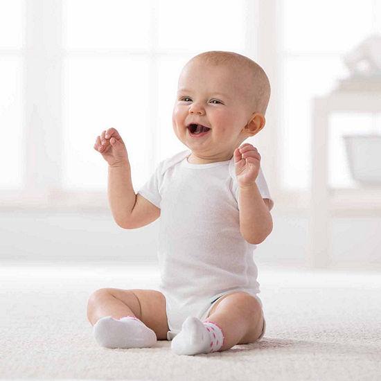 Gerber 15-Pk. Grow With- Me White Onesies Baby Unisex Bodysuit