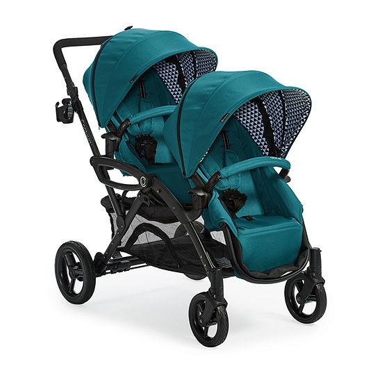 Kolcraft Contours Options Elite Double Stroller - Aruba Teal Full Size Stroller