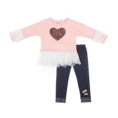 Little Lass 2-pc. Pattern Pant Set - Girls