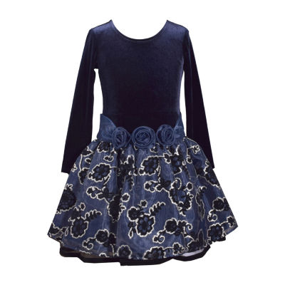 Bonnie Jean Long Sleeve Drop Waist Dress Girls