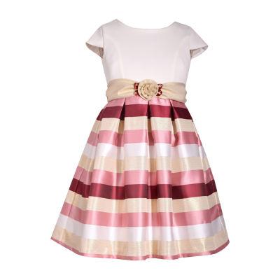 Bonnie Jean Short Sleeve Party Dress Girls