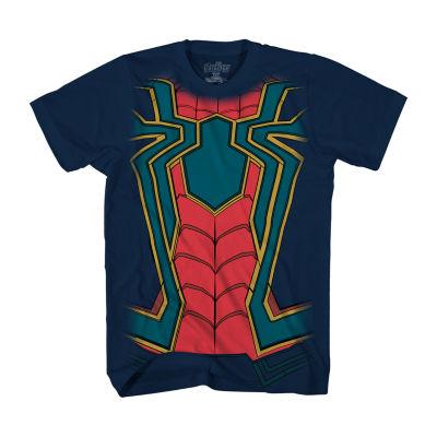 Short Sleeve Crew Neck Spiderman T-Shirt Boys