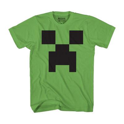 Boys Crew Neck Short Sleeve Minecraft Graphic T-Shirt Preschool / Big Kid