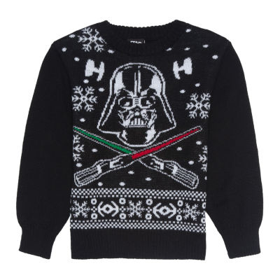 Christmas Crew Neck Long Sleeve Star Wars Pullover Sweater