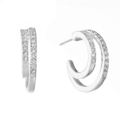 Gloria Vanderbilt 19.9mm Hoop Earrings