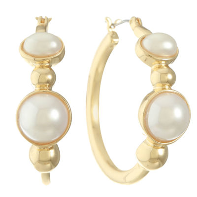 Gloria Vanderbilt 36.9mm Hoop Earrings