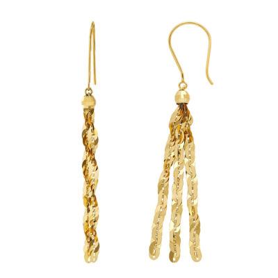 14K Gold 44mm Hoop Earrings