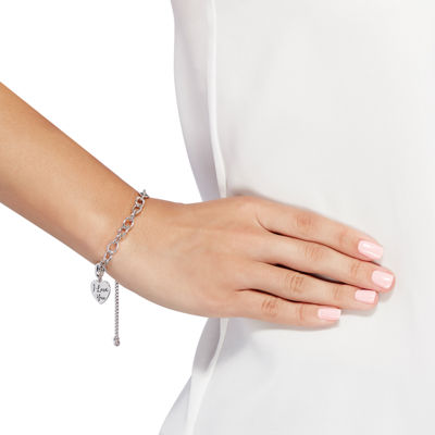 PS Personal Style Womens Sterling Silver Charm Bracelet