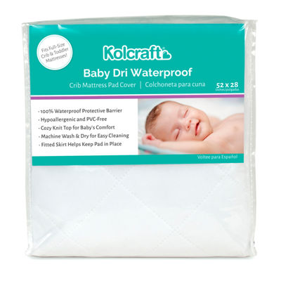 Kolcraft Kolcraft Baby Dri Waterproof Pad Knit Crib Mattress Pad