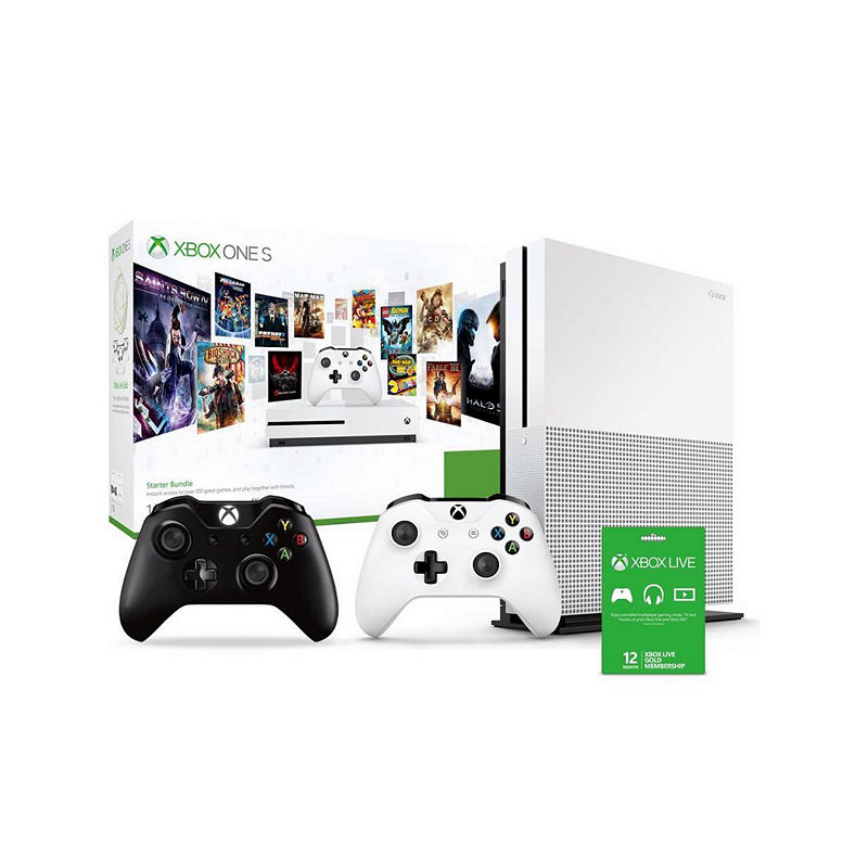 Microsoft Xbox One S 1TB with 12 Month Gold Subscription and Controller Bundle