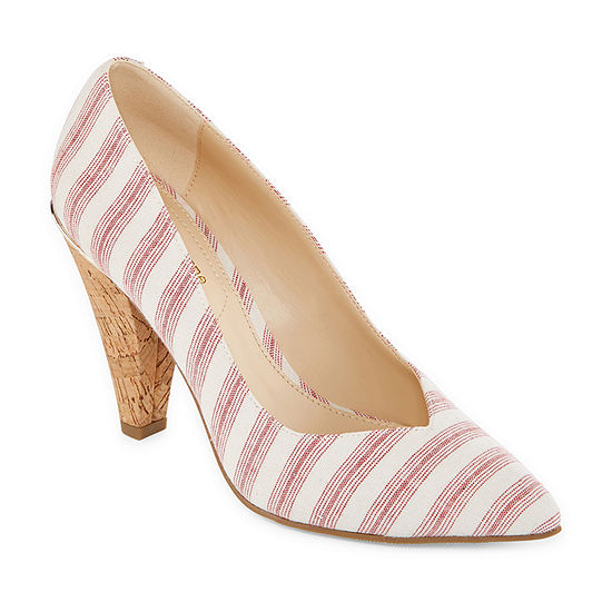 Liz Claiborne Womens Zeo Pumps Pointed Toe Cone Heel