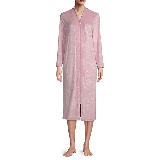 Adonna Womens Velour Long Sleeve Mid Length Robe