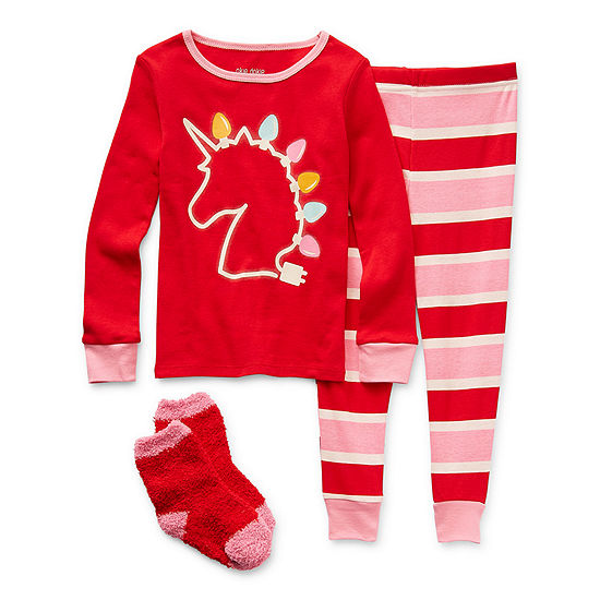 Okie Dokie Toddler Girls 2-pc. Pant Pajama Set