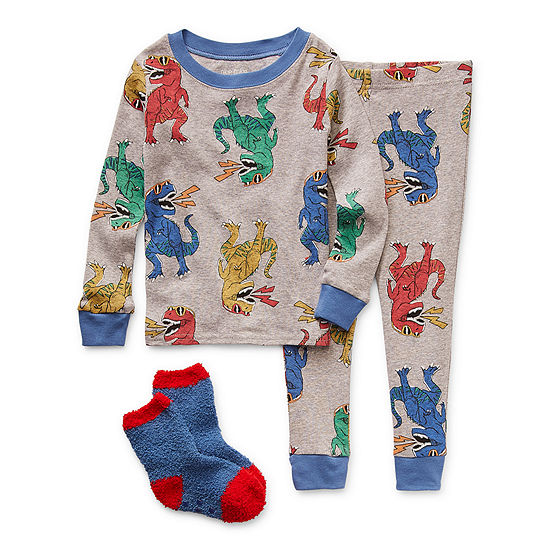 Okie Dokie Toddler Boys 2-pc. Pant Pajama Set