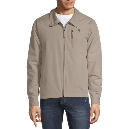 U.S. Polo Assn. Microfiber Midweight Softshell Jacket, Small , Beige