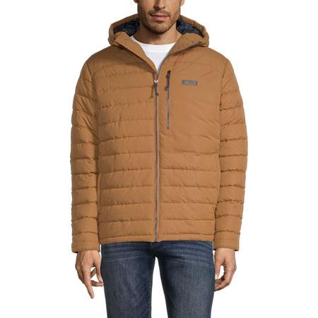 Cherokee Hooded Heavyweight Puffer Jacket, Medium , Brown