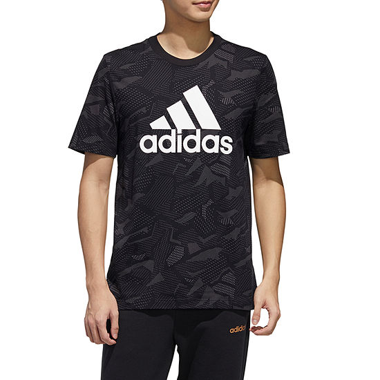 adidas-Athletic M E All Over Print Mens Crew Neck Short Sleeve T-Shirt