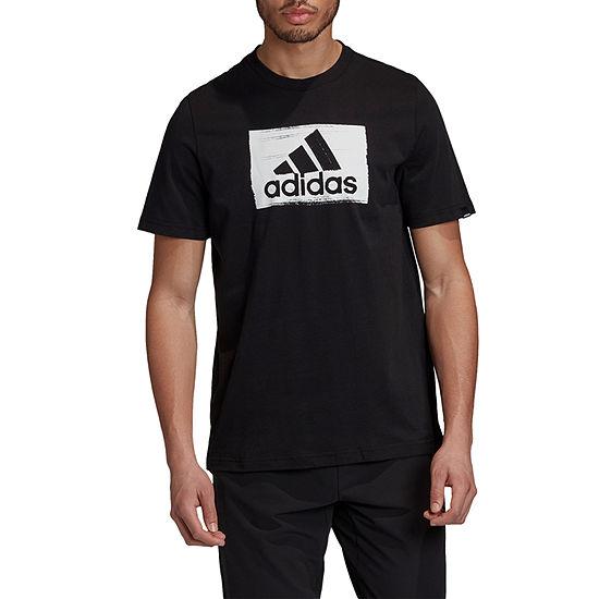 adidas-Athletic M Brshstrk Mens Crew Neck Short Sleeve T-Shirt
