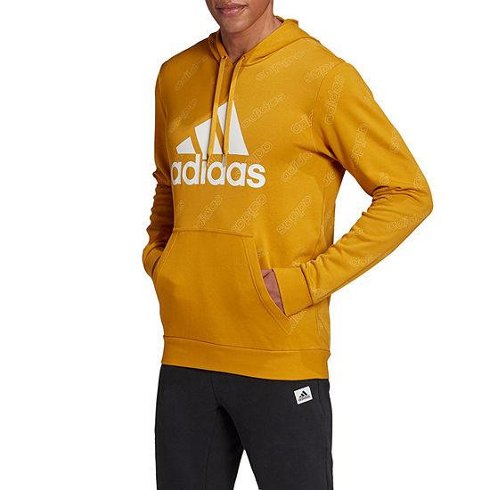 adidas-Athletic Adidas Mens Core Fave Hoody Mens Long Sleeve Hoodie