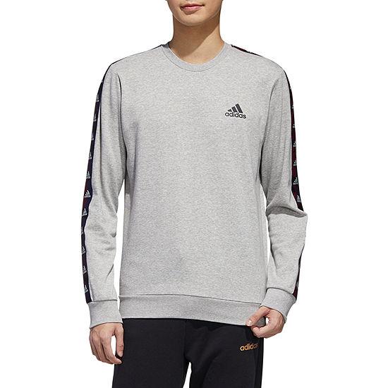 adidas Athletic M E Tape Mens Crew Neck Long Sleeve Sweatshirt