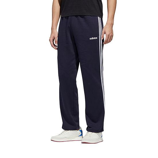 adidas M  Fleece 3 Stripe Open Hem Mens Sweatpant