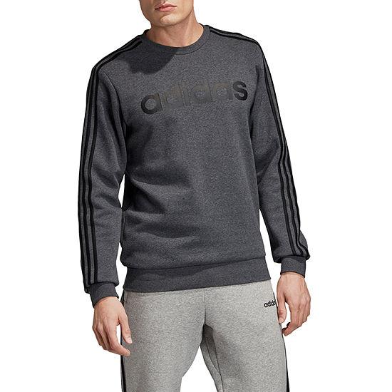 adidas Mens Crew Neck Long Sleeve Sweatshirt -Athletic