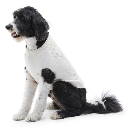 St. John's Bark Dog Sweater, L-dog , White