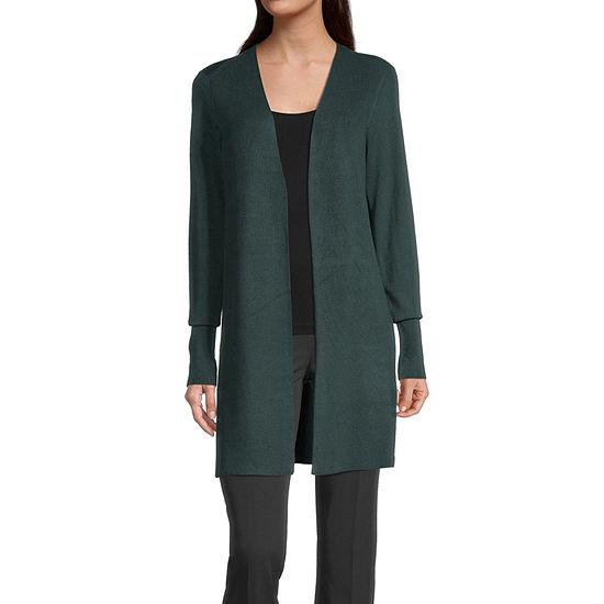 Worthington Womens Essential Cardigan - Tall