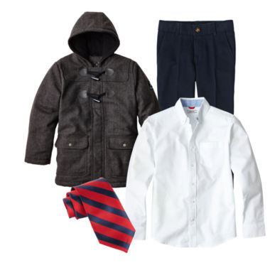 jcpenney.com | IZOD® Oxford Shirt, Twill Pants, Tie or Big Chill® Jacket - Boys