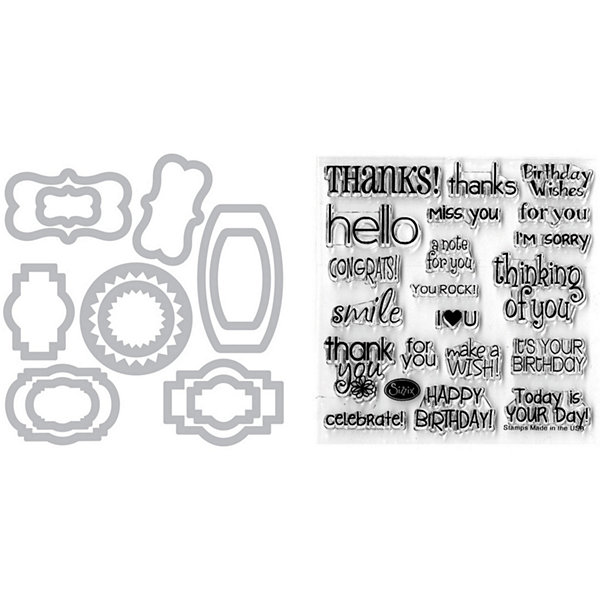 Sizzix® Framelits Phrases Die and Stamp Kit
