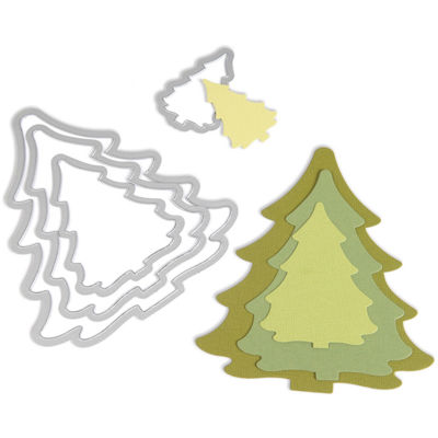 Sizzix® Framelits Christmas Trees 4-pc. Die Set