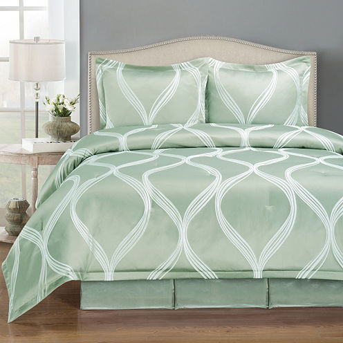 Wave 4-pc. Jacquard Comforter Set