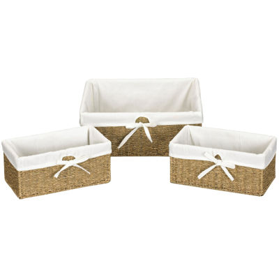 Household Essentials® Set of 3 Woven Seagrass Utility Baskets