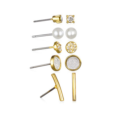 Mixit™ 5-pr. Gold-Tone Stud Earrings